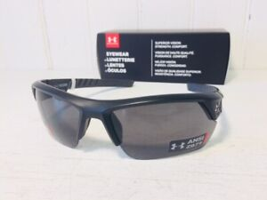 UNDER ARMOUR IGNITER 2.0 FREEDOM Satin Black w Gray Lens Sport Wrap Suns $100 $48.88