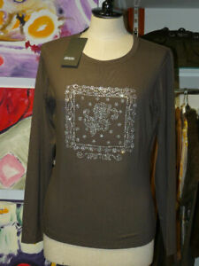 DIANA GALLESI under Jackets Elast. Long Sleeve Size 42 Taupe #x27;Discount#x27; $54.90