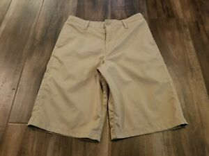 UNDER ARMOUR GOLF SHORTS SIZE YOUTH 14 KIDS BOY'S TAN $14.44