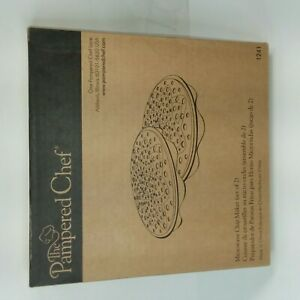 The Pampered Chef Microwave Chip Maker NIB Set Of 2 #1241