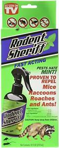 2 Pack Rodent Sheriff Animal Repellent Liquid For Rodents 8 oz. Damaged box