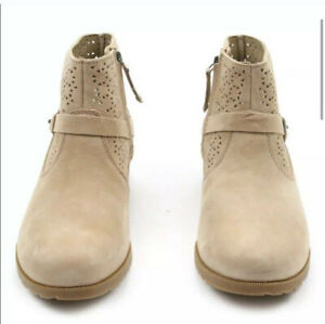 NIB Teva Delavina Tan Perforated Suede Ankel Boots New Sz 6 W  $29.99