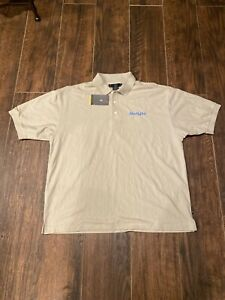 NWT NIKE XL GOLF BEIGE DRI FIT MENS POLO SHIRT $16.99