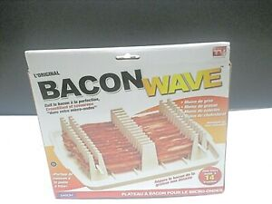 Emson Bacon Wave Tray Microwave Bacon Cooker Rack Stackable Less Fat Home Hotel