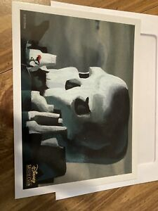 Disney Movie Club Exclusive Lithograph Peter Pan 2015 Skull Rock $10.00