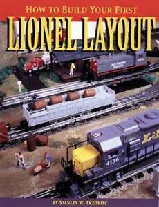 How to Build Your First Lionel Layout Paperback By Trzoniec Stanley W. GOOD