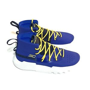 NEW Under Armour Blue Size 7Y Boys Basketball Shoes 3020424 402 $59.00