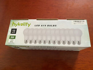 New Hykolity Led A19 Light Bulbs 12 Pack 9w 3000k Soft White