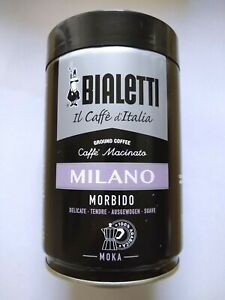 Bialetti Milano Ground Coffee 8.8oz Ounces Light Roast Made in Italy Moka New