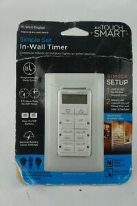 NEW Sealed My Touch Smart Simple Set In-Wall Digital Timer 26893