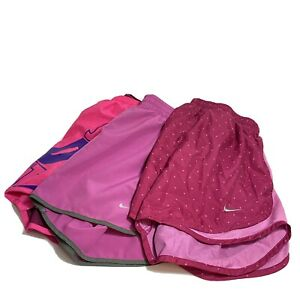 Nike Dri Fit Womens Lined Running Shorts Pink Lot Of 3 Size Small $39.99