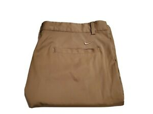Nike Golf Dri fit Khaki Walking Shorts Mens Size 36 Tour Performance $28.00