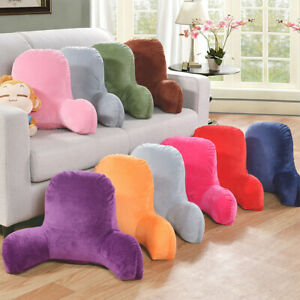 Soft Corduroy Lounger Sofa Bed Rest Pillow Waist Cushion Arm Back Support Stable C $48.55