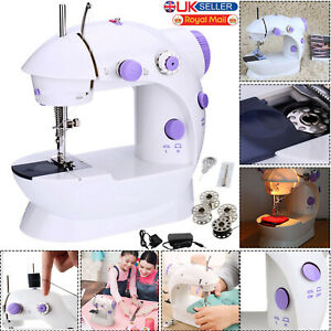 NEW Electric Portable Mini Sewing Stitch Machine 2 Speed Foot Pedal LED Home DIY GBP 12.99