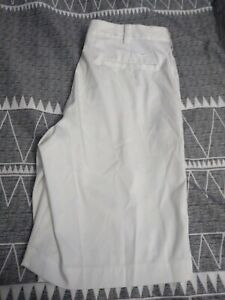 Nike White Dri Fit Button Golf Shorts Sz 32 Mens Walking Summer Beach Free Ship $22.99
