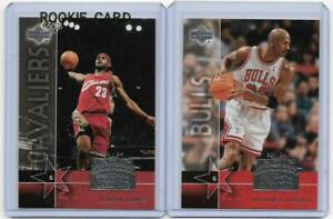 LOT 3 LeBRON JAMES ROOKIE MICHAEL JORDAN 1995 RC 2004 UPPER DECK CHICAGO CAV'S