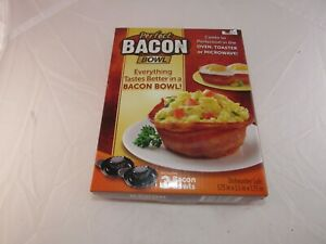 Perfect Bacon Bowl 2 Pc As Seen On TV Kitchen Gadget Cooker Microwave Oven New