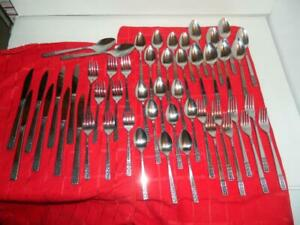 IIC Cortina Complete Service for 8 Stainless Steel Flatware  - Japan - 50 pieces