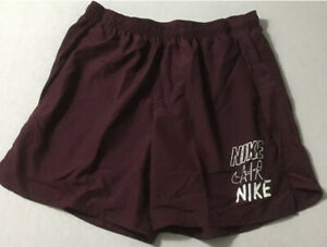 "Nike Men's DriFit Brief Lined Running Shorts M Medium 7"" CN8391 681 Maroon $40.00"