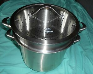 Calphalon 4-PC Commercial 8608 8 qt Stock Pot with Pasta Strainer
