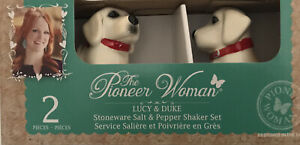 NEW The Pioneer Woman Lucy and Duke Dogs 2 Piece Salt and Pepper Shaker Set