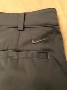 Nike Tour Performance DRI FIT Golf Shorts Size 32 Dark Gray Mens $7.50