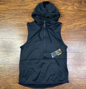 womens under armour storm Hoodie Sleeveless Small Black FF $24.95