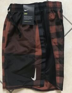Nike Challenger 7 Checker Print Running Shorts Cinnamon Brown BV4854 226 Men S $35.10