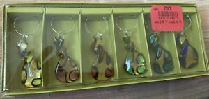Pier 1 One Imports Wine Glass Charms NEW Set Of  6  Multi Abstract Colorful