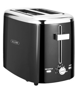 New 2 Slice Extra Wide Self Centering Slot Toaster Toast Bagel Breakfast Cooking