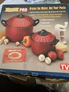 PASTA PRO, Cook, Drain, & Serve...All in One Saucepan, Cookware, As Seen on TV