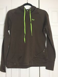 Under Armour Small Brown Womens Cold Gear Light Weight Pullover Hoodie $6.00