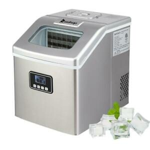Zokop 40 LBS Portable Electric Ice Maker Countertop Ice Cube Compact Machine