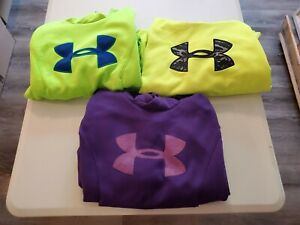 Womens Under Armour Pullover Hoodie Size Small Lot of 3 sweatshirts S $9.99