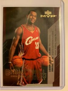 2003 04 Upper Deck MVP Lebron James Basketball Diary Insert card #BD13