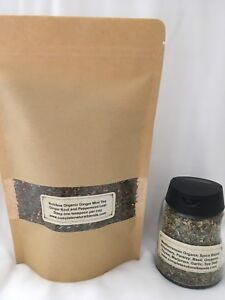 ROOIBOS GINGER MINT TEA 4 oz. and Mediterranean Spice - ORGANIC - GREAT GIFT