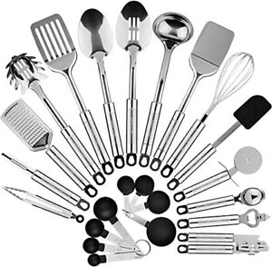 Maxi Chef 23 Piece and Gadget Kitchen Utensil Set Stainless Steel
