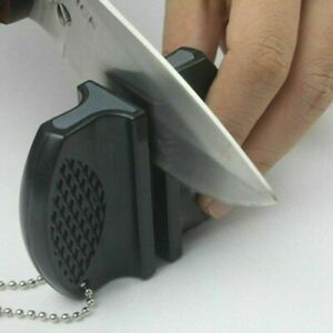 Pocket Knife Sharpener Knives Sharpening Whetstone Stone Kitchen Tools^