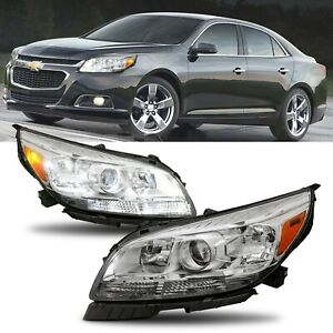 Left amp; Right Projector Headlights Assembly Headlamps For 2013 2015 Chevy Malibu $219.79