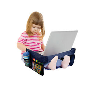 Kids Play n#x27; Snack Travel Tray Portable Foldable Table with Mesh Storage Pockets