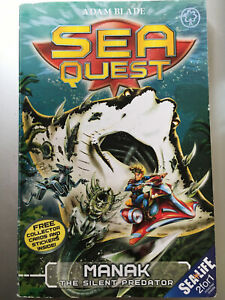 Sea Quest: Manak The Silent Predator by Adam Blade: with collector cards