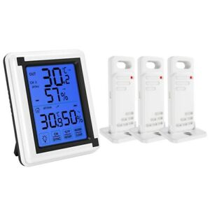 10X Press Screen Weather Station Outdoor Forecast Sensor Backlit Thermome C3X5