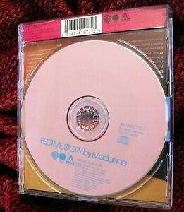 MADONNA PINK BEDTIME STORIES UK PICTURE PROMO CD DISC HANDFUL STORY SILVER PRESS $155.00