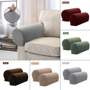Stretch Armchair Covers Chair Arm Protector Case Sofa Couch Recliner Armrest Kit