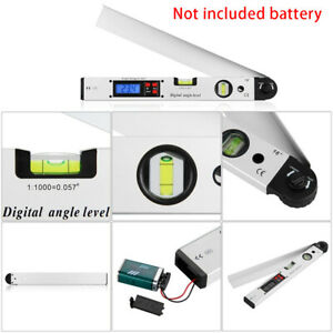 400mm LCD Display Digital Goniometer Angle Accurate Slope With Magnetic Base $33.48