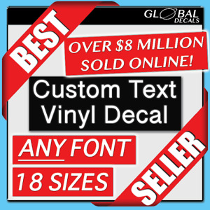 Custom Vinyl Lettering Decal Personalized Sticker Name Window Text Wall Car $7.50