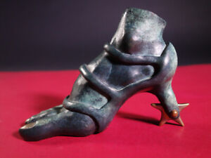 Keith Jellum Fabricated Metal Sculptures: Heelspur High Heel Shoe Iron Series $157.50