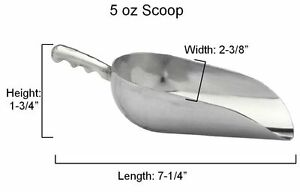 1x Libertyware 5 Ounce Cast Aluminum Ice Scooper Kitchen Dining amp; Bar Gift safe $6.71