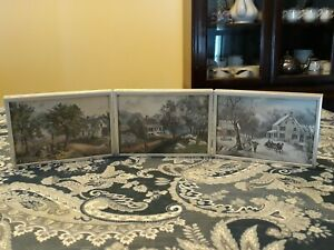 AMERICAN HOMESTEAD 3 Original Currier amp; Ives Lithograph Antique $28.00