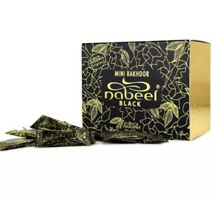 Nabeel Black Mini Oudh Incense 36 pcs  Bakhour Mini 3g x 36 بخور النبيل اسود